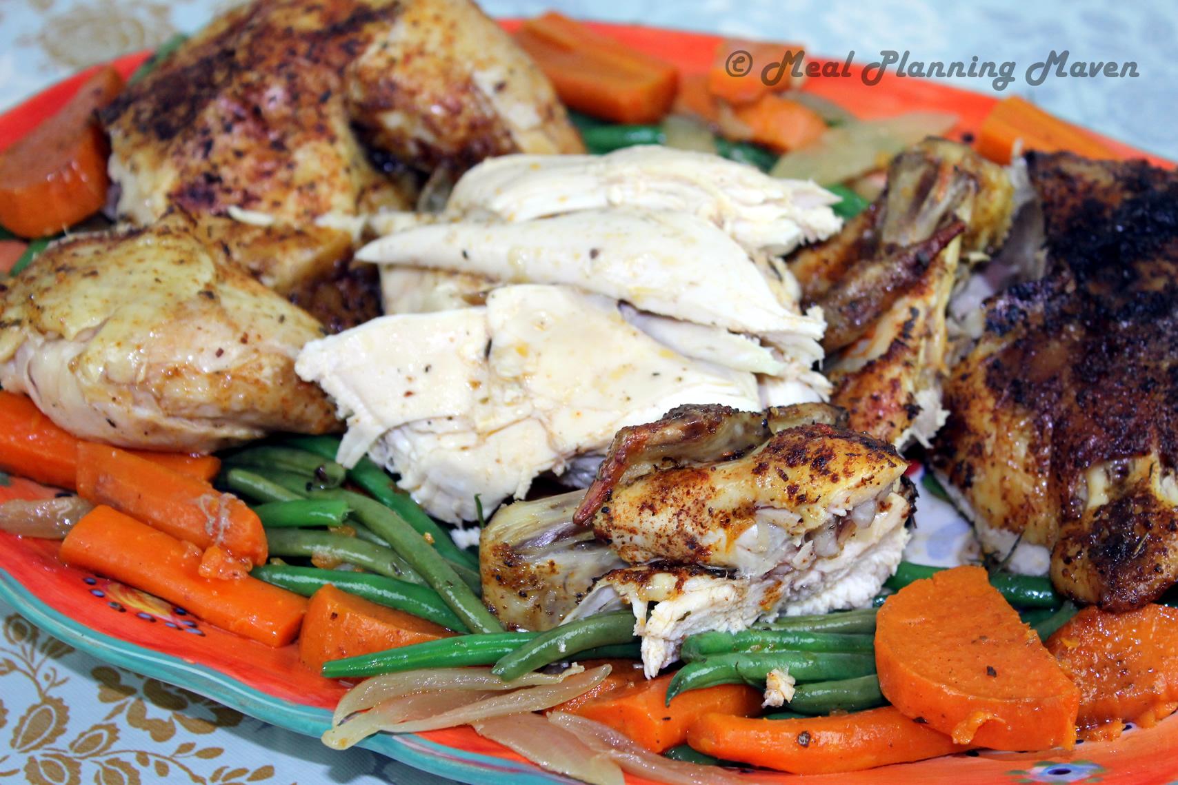 """Crockpot """"Rotisserie"""" Chicken 'n Vegetables"""