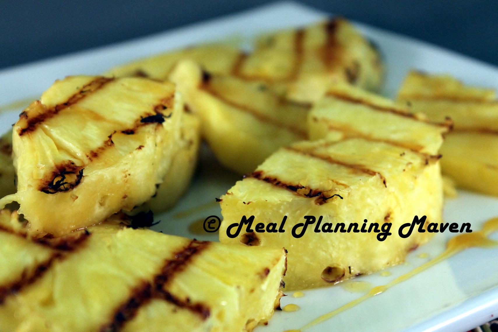 Grilled Pineapple with Orange-Honey Glaze