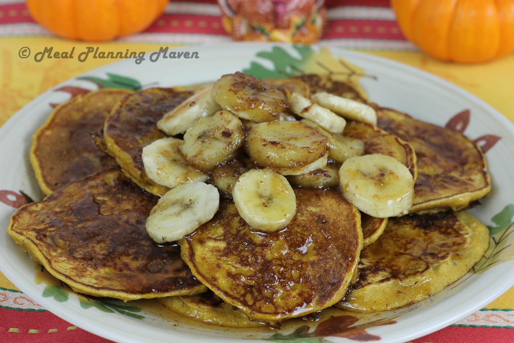 Pumpkin 'Nana Pancakes