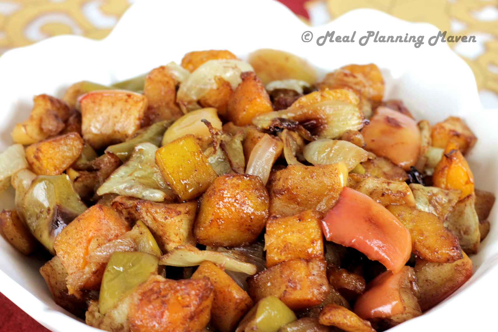 Roasted Apples, Butternuts 'n Onions