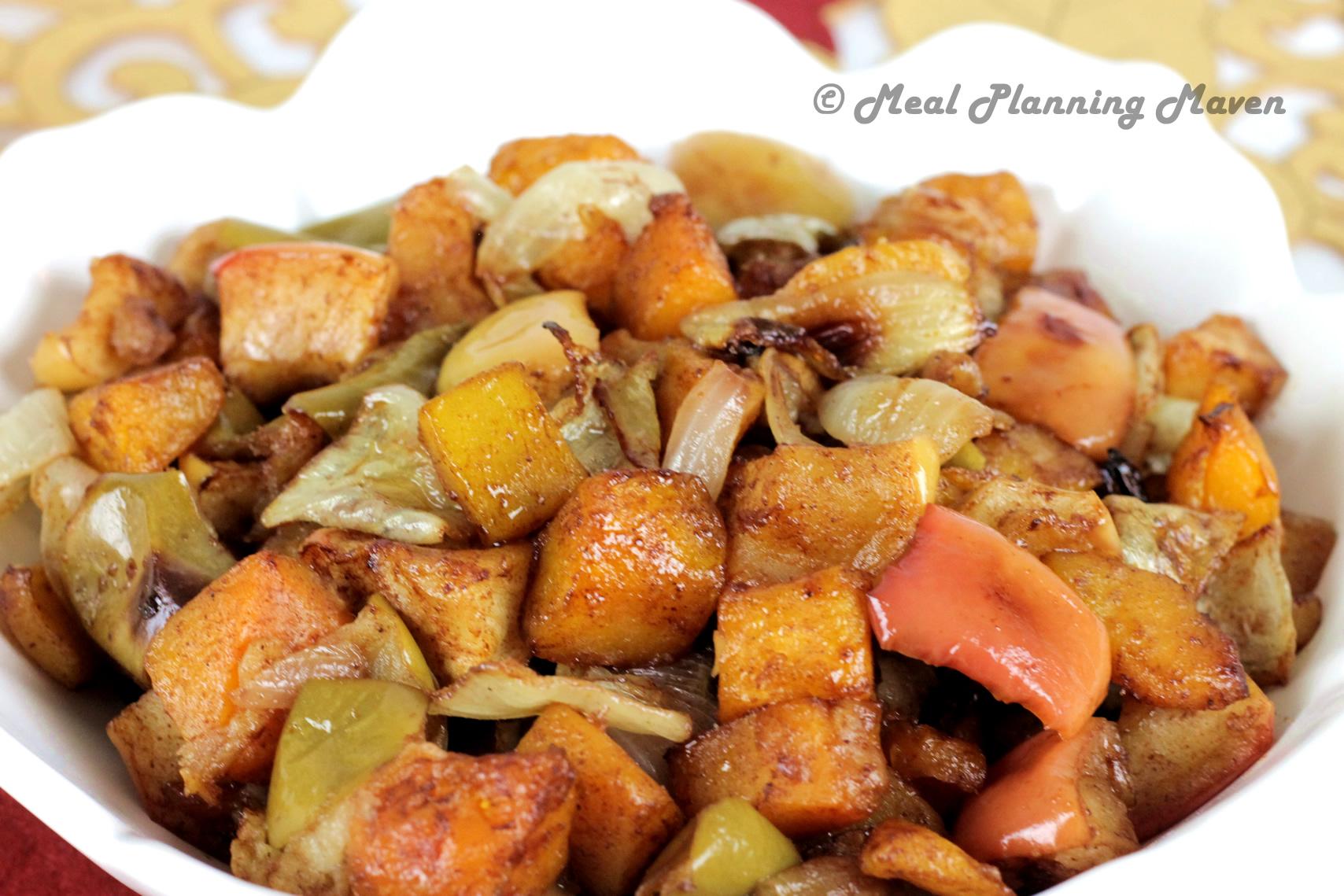 Roasted Apples, Butternuts 'n Onions
