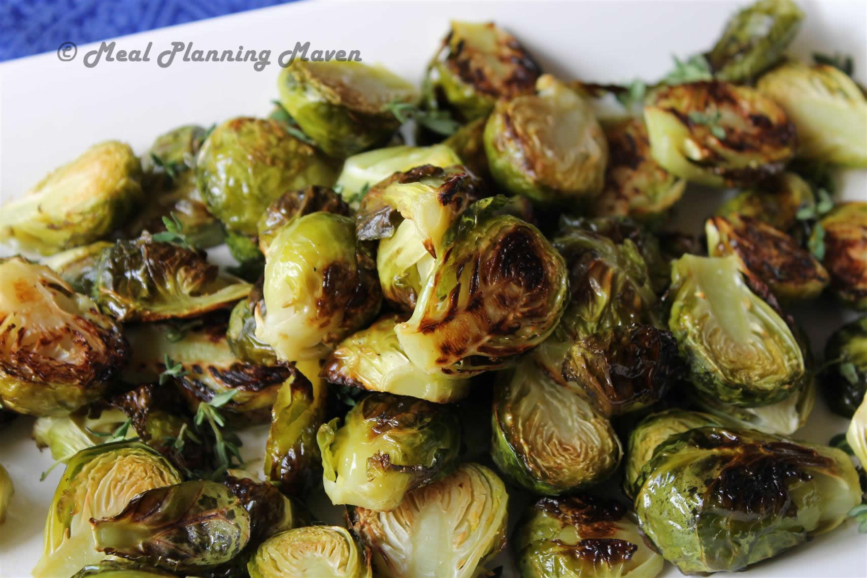 Roasted Brussels Sprouts with Fresh Thyme