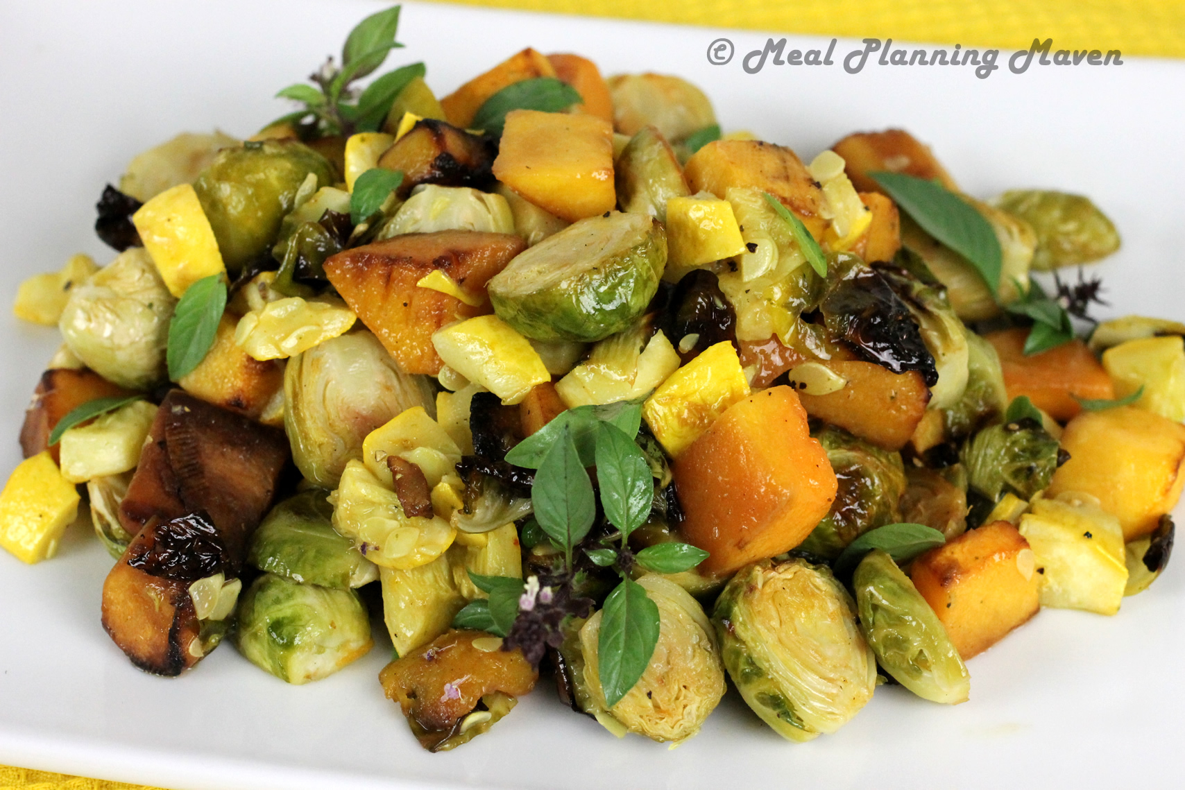 Roasted Butternuts 'n Brussels