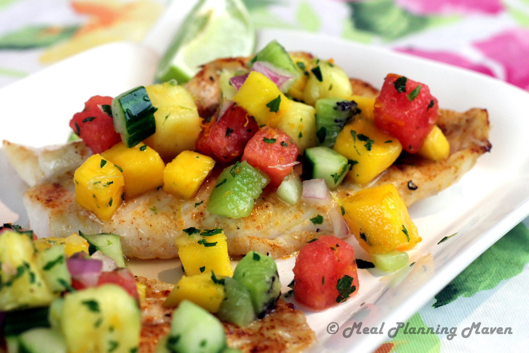 Broiled Grouper with Tropical Fruit Salsa