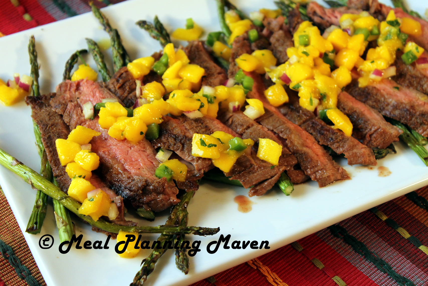 Southwestern Flank Steak with Mango Salsa