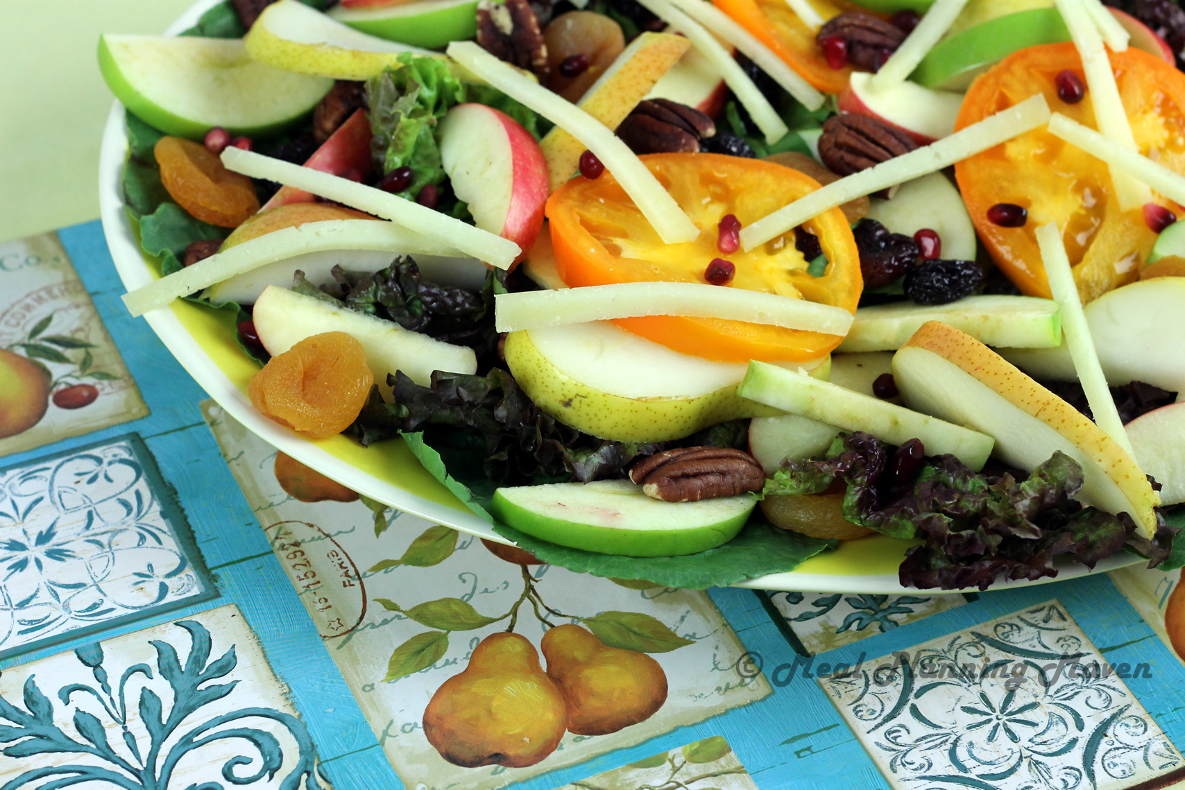 Sweet Autumn Salad with Creamy Pear Vinaigrette