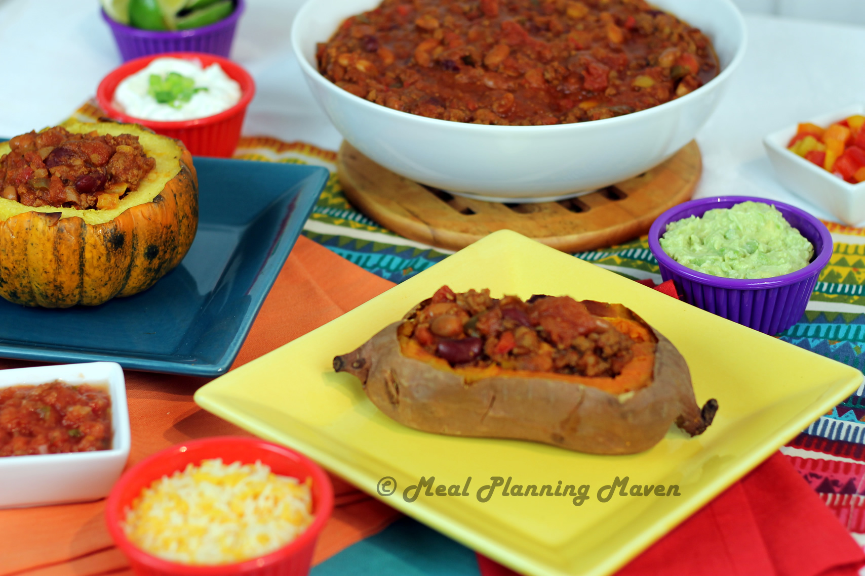 Crockpot Beef 'n Beans Chili-3 Ways