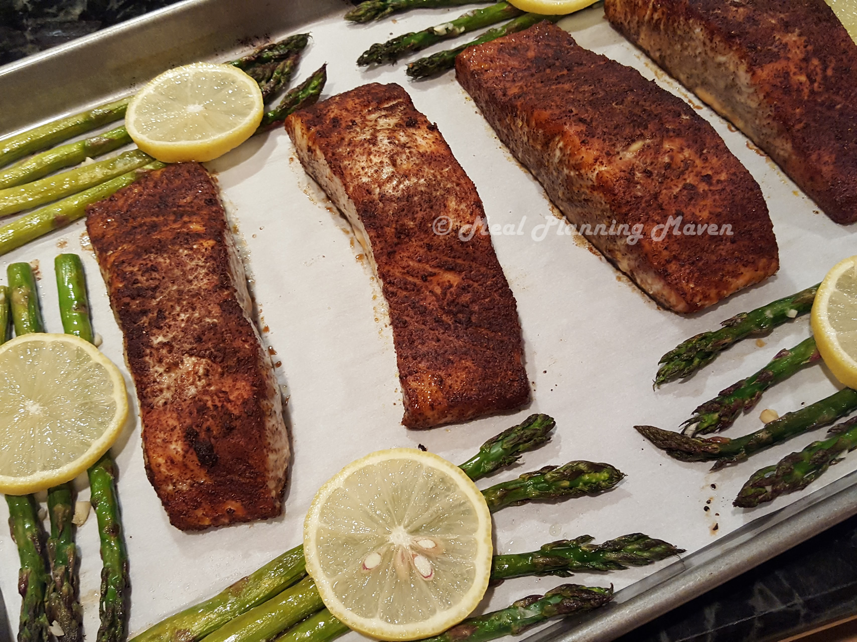 Sheet Pan Bronzed Salmon 'n Asparagus