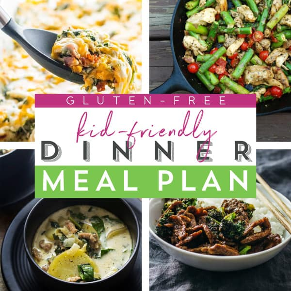 Kid-friendly Gluten Free Meal Plan