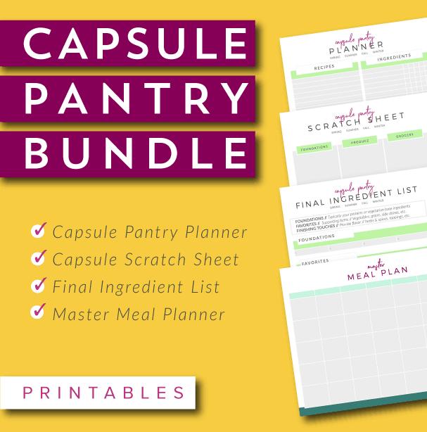 Capsule pantry printable bundle meal planning blueprints capsule pantry printable bundle malvernweather Gallery