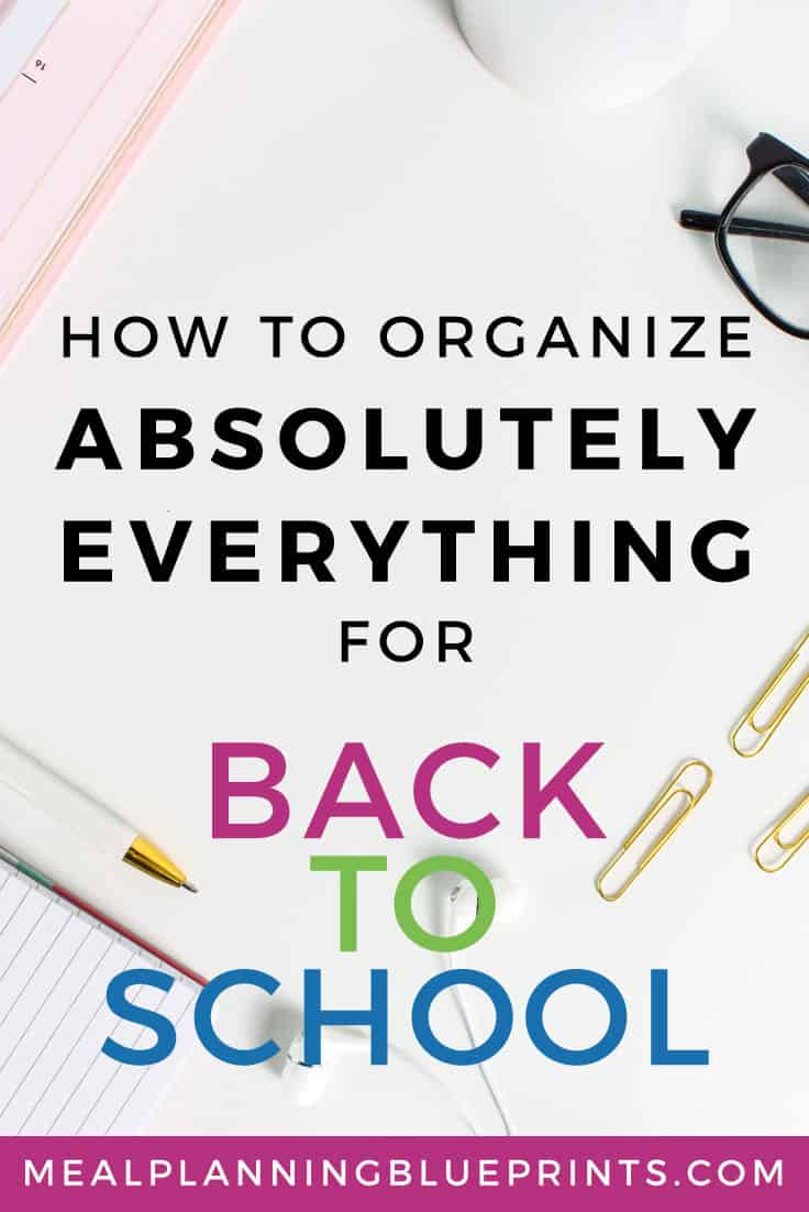 Organize everything for Back to School is one place! Nothing gets lost or forgotten, this is the best system!