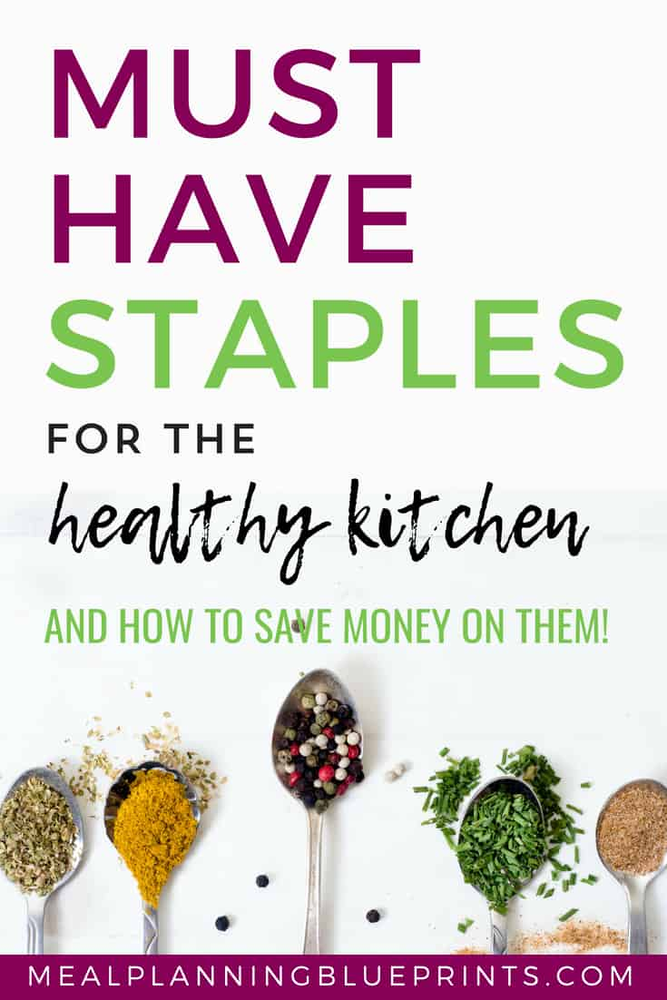 The key to eating healthy is having healthy food in your pantry! Here are 10 healthy pantry staples and how to save money on them!