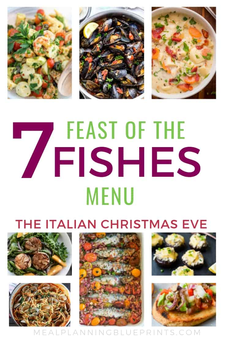 The Feast of the Seven Fishes menu: one of my favorite Christmas Eve traditions! Here are some delicious (and easy!) Feast of the Seven Fishes recipes if you're hosting this traditional Italian Christmas Eve dinner this year!