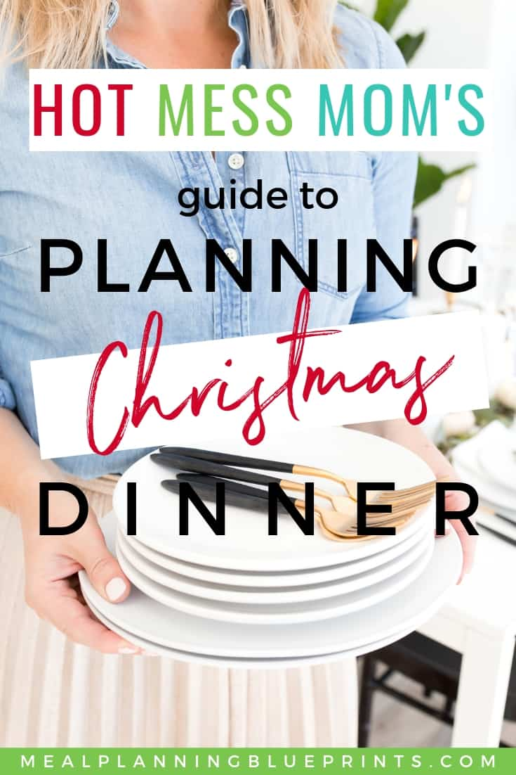 Are you hosting Christmas dinner this year? Even if you're the most disorganized person on the planet, you can plan Christmas dinner with this simple holiday menu planning checklist. Read this and download your free printable Christmas Menu Planner!
