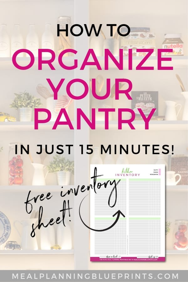 Organize your pantry in 15 minutes