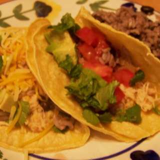 Cuban Chicken Tacos, Black Beans and Rice