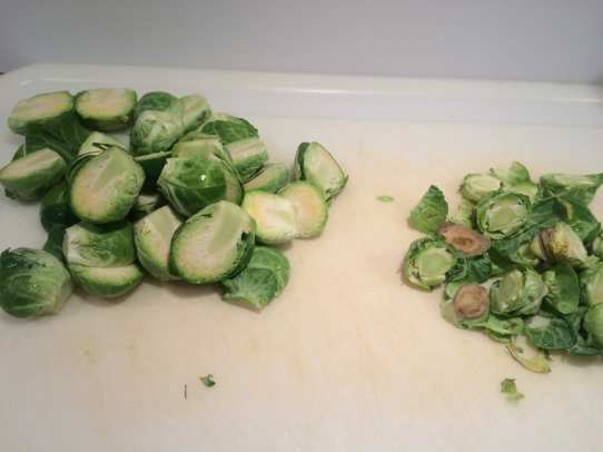 How to slice brussels sprouts.