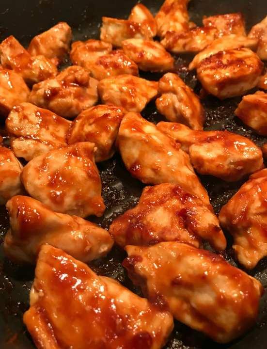 chicken BBQ chicken on grill pan