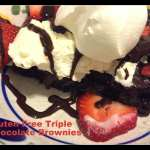 Gluten Free triple chocolate brownie sundae