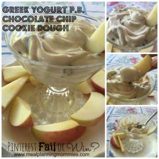 Pinterest Fail or Win? Greek Yogurt Peanut Butter Chocolate Chip Cookie Dough