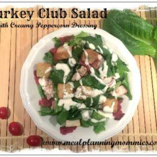 Turkey Club Salad with Creamy Peppercorn Dressing- 7 WW Smart Points