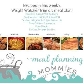 Free Weight Watcher Friendly Meal Plan and Grocery List #11
