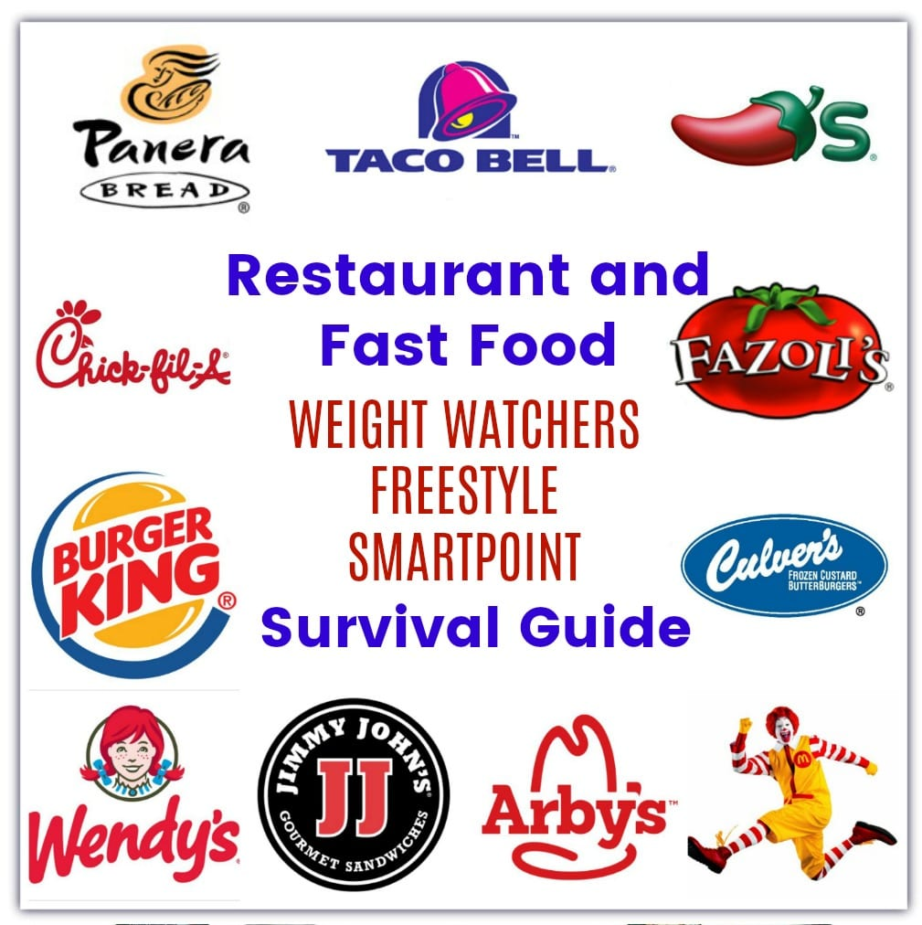 Restaurant And Fast Food With Weight Watcher Freestyle Smartpoints