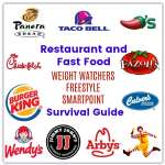 Restaurant and Fast Food with Weight Watcher Freestyle SmartPoints (10 SP or less)