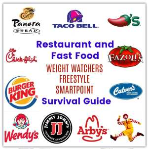 Smart foods at restaurants and fast food joints that are low in WW freestyle SmartPoints.
