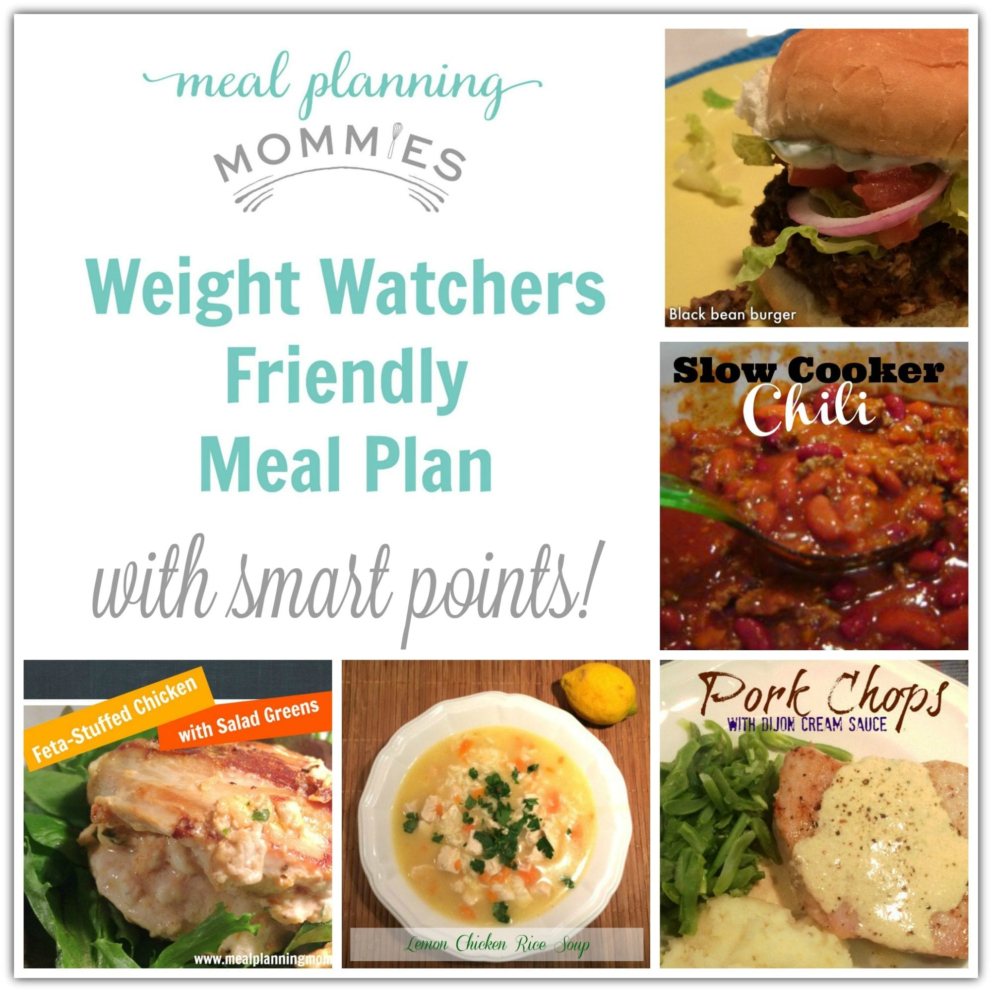weight watcher friendly meal plan with smart points planning mommies