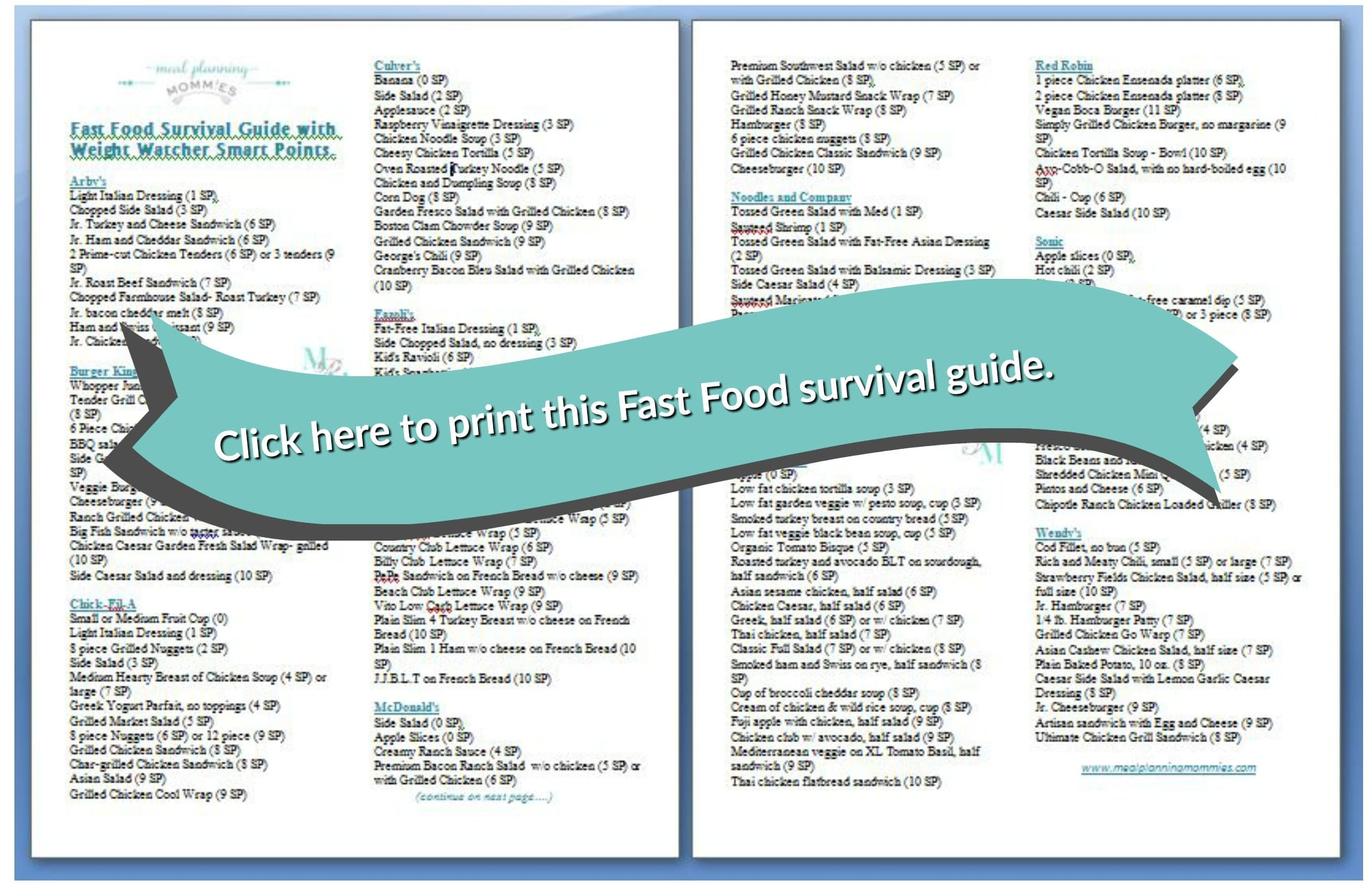 photograph relating to Weight Watchers Freestyle Food List Printable called Wise Instant Foods WITH Fat WATCHER Good Info (10 SP OR