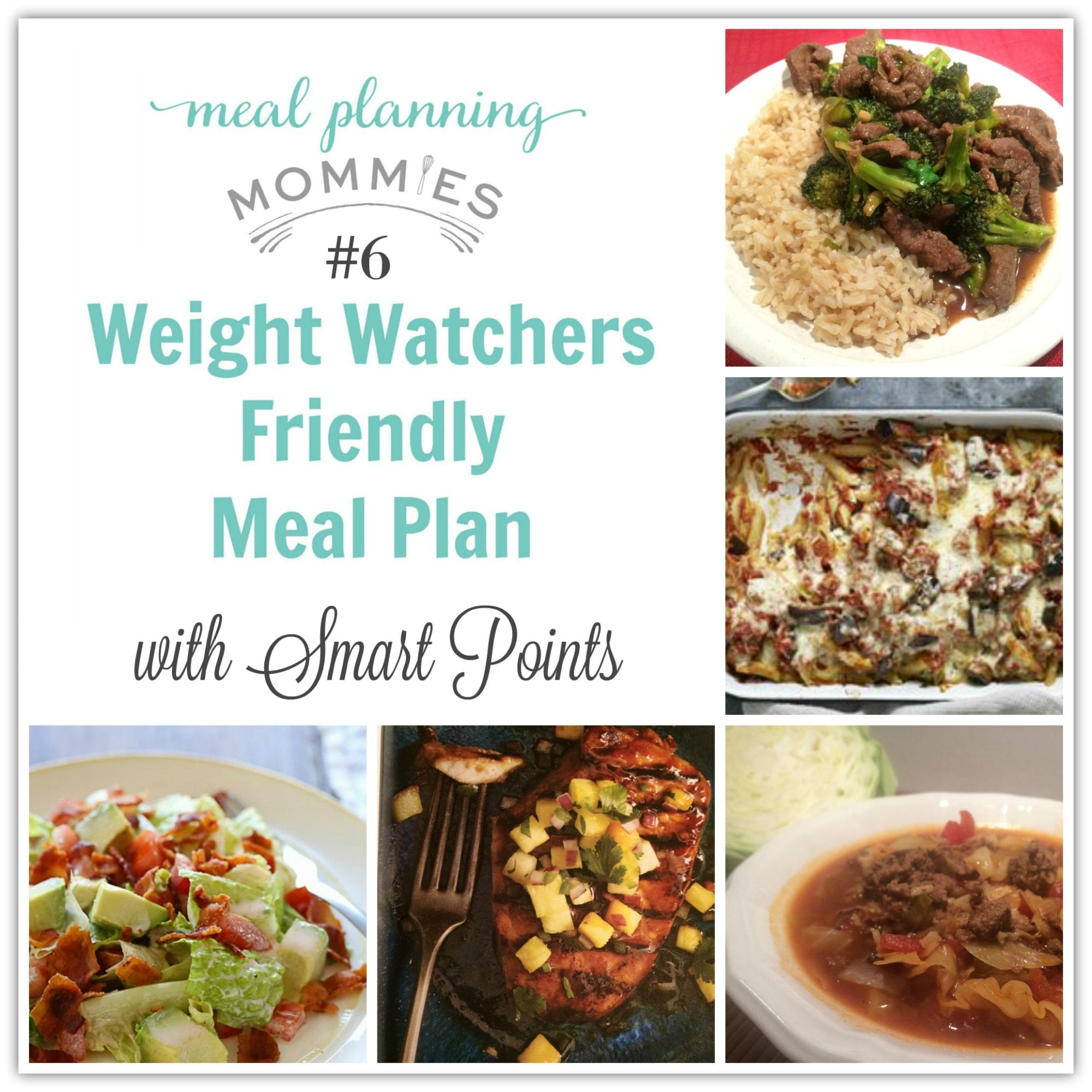 meal plan with skinnytaste recipes and weight watcher smart points found on planning mommies