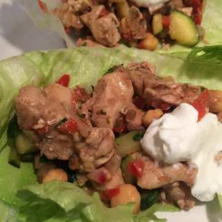 Greek Chicken Lettuce Wraps – 2 Smart Points