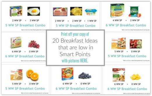 20 breakfast ideas that are low in smart points with images. jpg