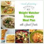 Weight Watcher Friendly Meal Plan #21 with FreeStyle Smart Points