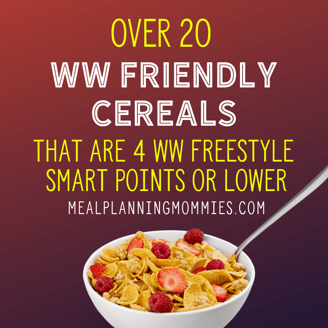 20+ Cereals That Are Low In Weight Watchers Freestyle