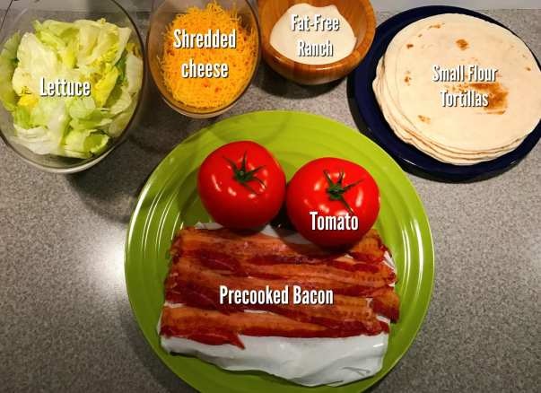 ingredients-for-blt-wrap