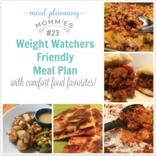 Comfort Food Favorites WW Friendly Meal Plan #23