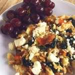 Spinach Feta Egg White Scramble