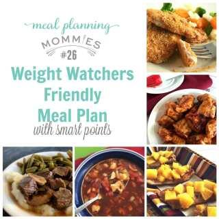 Weight Watcher Friendly Meal Plan #26