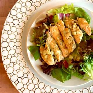 Grilled Chicken with Mustard Sauce and Greens