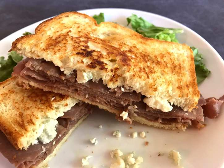 Toasted Beef and Bleu Cheese Sandwiches