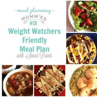Weight Watchers Friendly Meal Plan w/ Smart Points #28