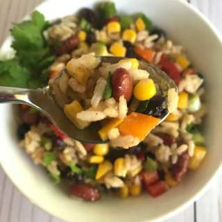 Rainbow Bean and Rice Salad