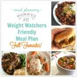 Fall Favorites Weight Watchers Friendly Meal Plan #32 with FreeStyle Smart Points