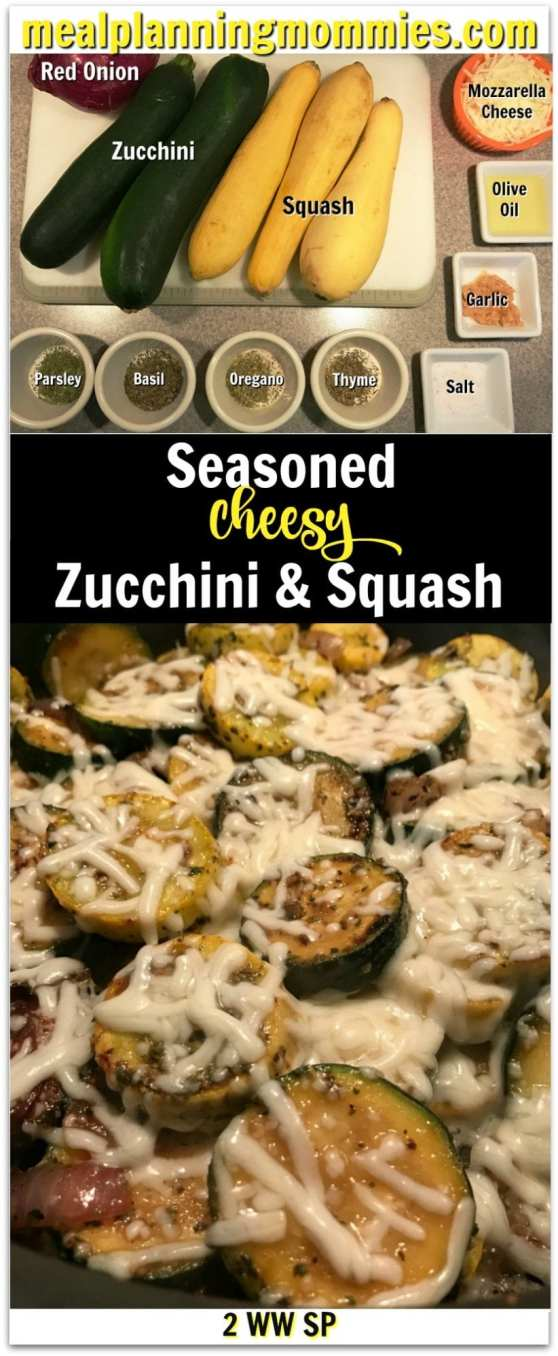 Seasoned Cheesey Zucchini & Squash recipe on Meal Planning Mommies