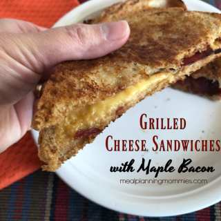 Grilled Cheese and Maple Bacon Sandwiches