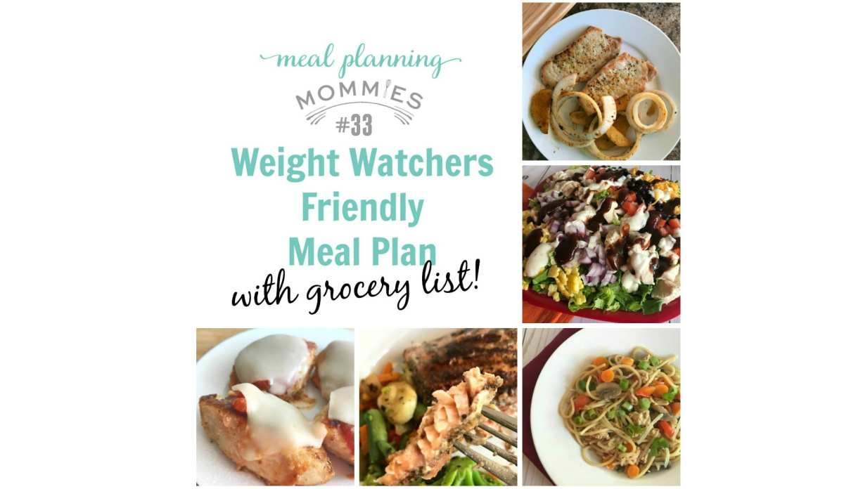 Weight Watchers friendly Meal Plan #33