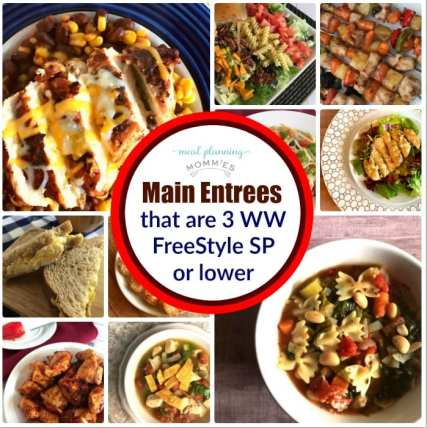 Dinners that are between 0-3 Weight Watchers FreeStyle Smart Points per serving.