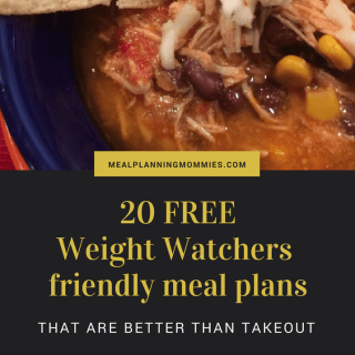 20 Free Weight Watchers Friendly Meal Plans with FreeStyle Smart Points